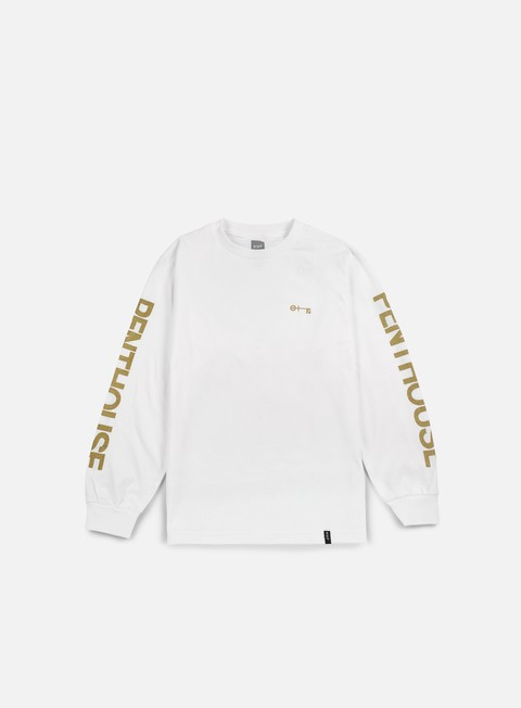 t shirt huf penthouse long sleeve t shirt white gold