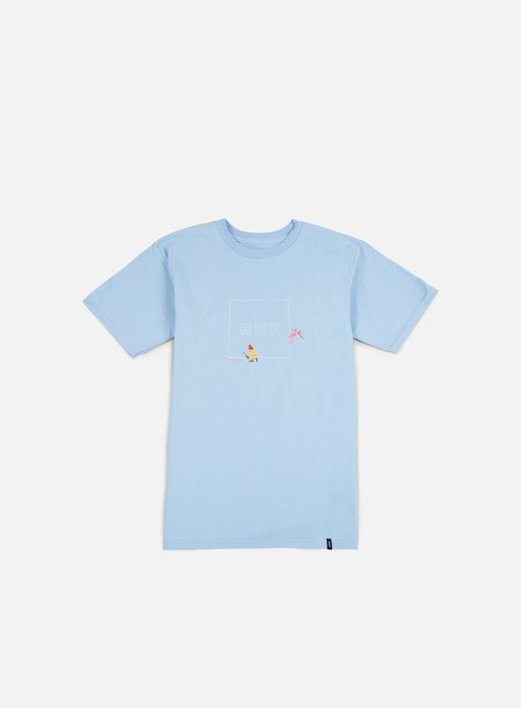 t shirt huf pink panther box logo t shirt light blue
