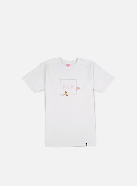 t shirt huf pink panther box logo t shirt white