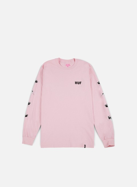 t shirt huf pink panther heads ls t shirt pink