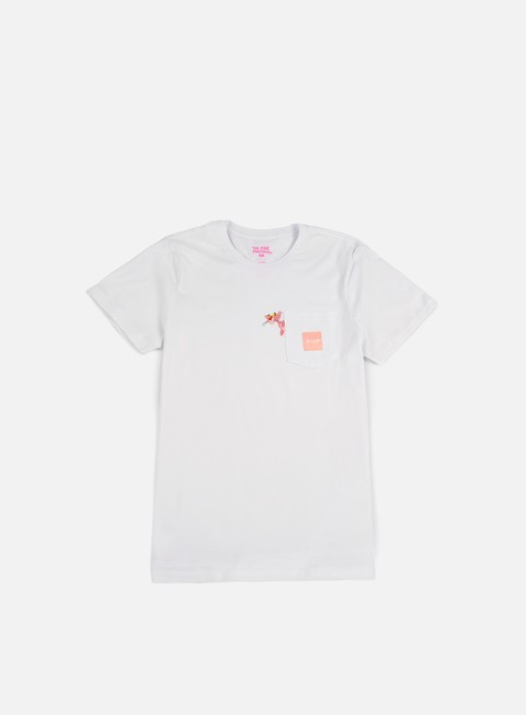 t shirt huf pink panther pocket t shirt white