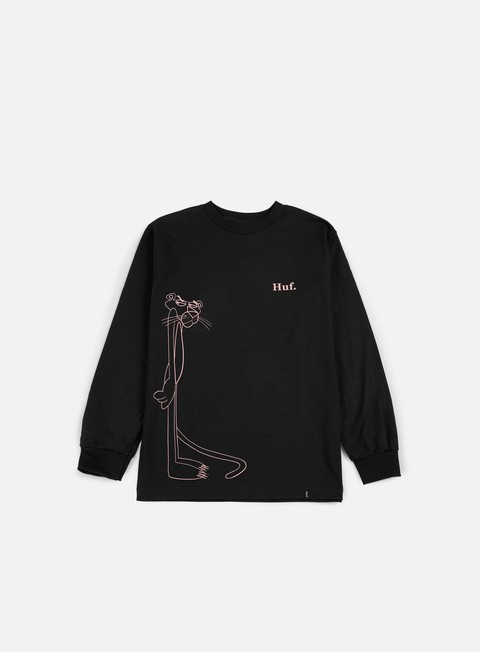 t shirt huf pink panther sus ls t shirt black