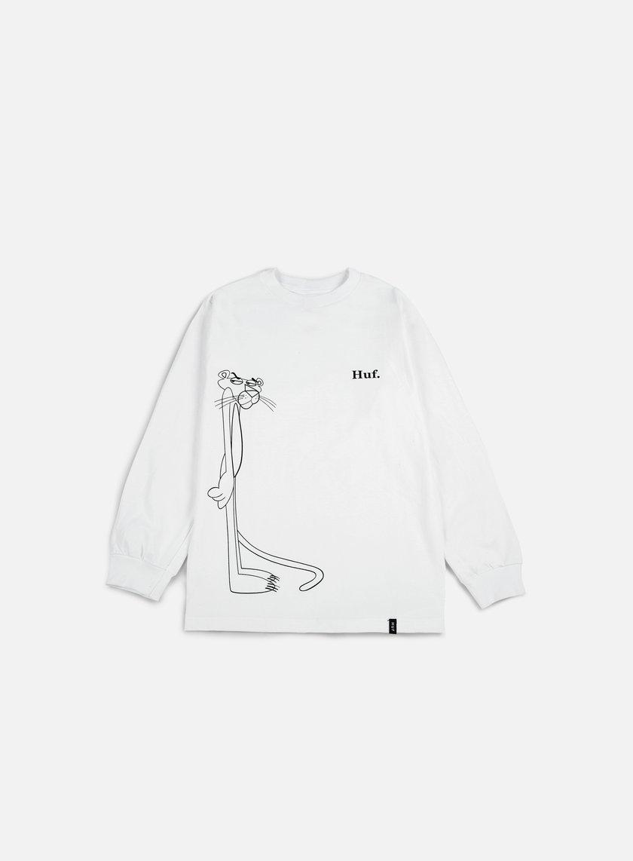 Huf - Pink Panther SUS LS T-shirt, White
