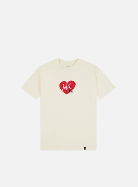 Outlet e Saldi T-shirt a Manica Corta Huf Popeye Olive Loves Huf T-shirt