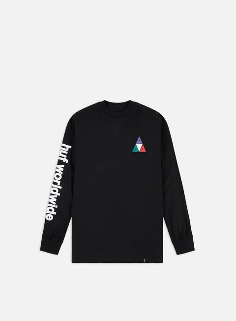 Outlet e Saldi T-shirt a Manica Lunga Huf Prism TT LS T-shirt