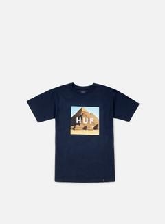Huf - Pyramids Box Logo T-shirt, Navy 1