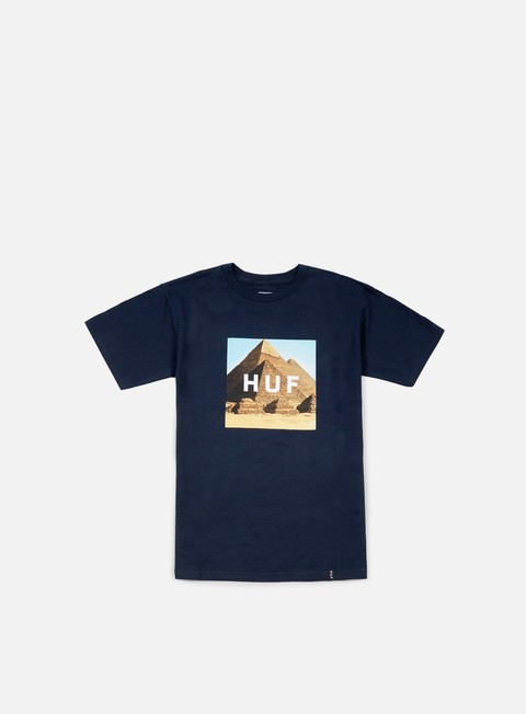 t shirt huf pyramids box logo t shirt navy