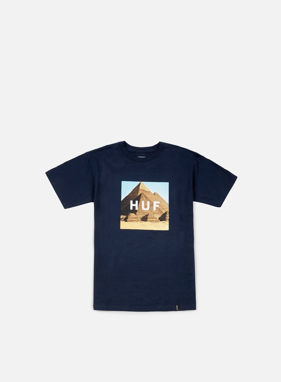 Huf - Pyramids Box Logo T-shirt, Navy