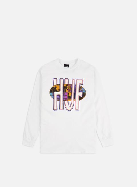 Outlet e Saldi T-shirt a Manica Lunga Huf Quake USA LS T-shirt