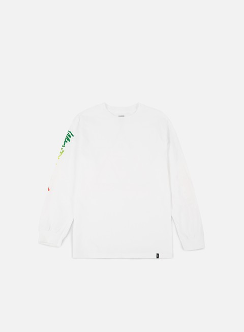 t shirt huf ra triangle ls t shirt white