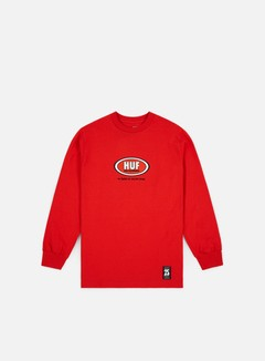 Huf - Real Cups And Jungs LS T-shirt, Red