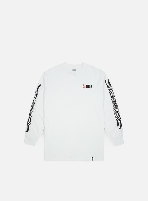 Outlet e Saldi T-shirt a Manica Lunga Huf Spitfire Swirls LS T-shirt