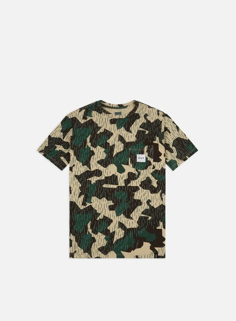 Outlet e Saldi T-shirt a Manica Corta Huf Splinter Camo Pocket T-shirt