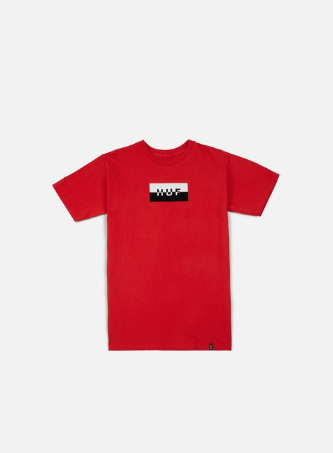 t shirt huf split bar logo t shirt red