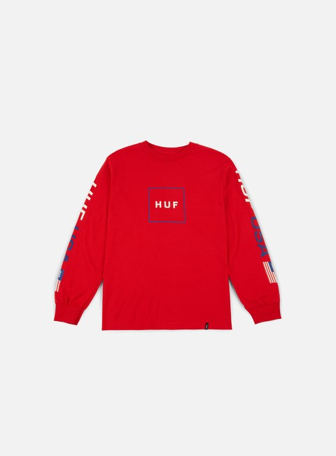 t shirt huf stadium anthem ls t shirt red