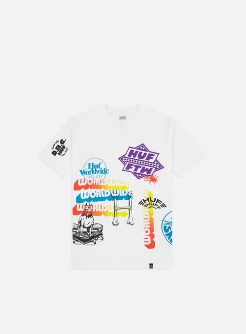 Outlet e Saldi T-shirt a Manica Corta Huf Test Print T-shirt