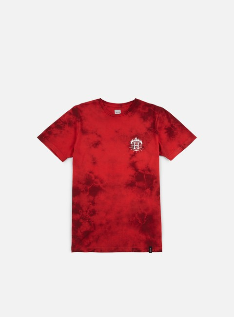 t shirt huf thrasher tds crystal wash t shirt red
