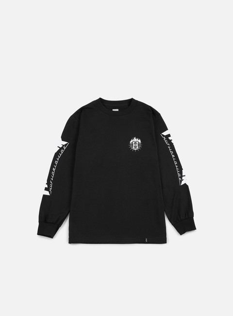 t shirt huf thrasher tds ls t shirt black