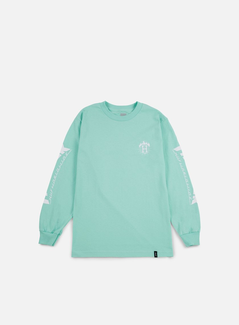 Huf - Thrasher TDS LS T-shirt, Mint