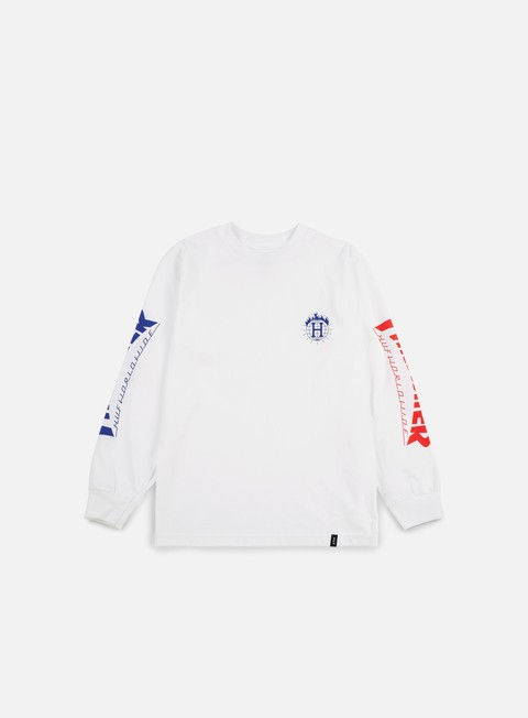 t shirt huf thrasher tds ls t shirt white
