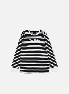 Huf - Thrasher TDS Stripe LS T-shirt, Black 1