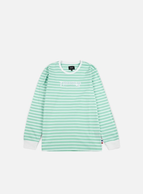 t shirt huf thrasher tds stripe ls t shirt mint