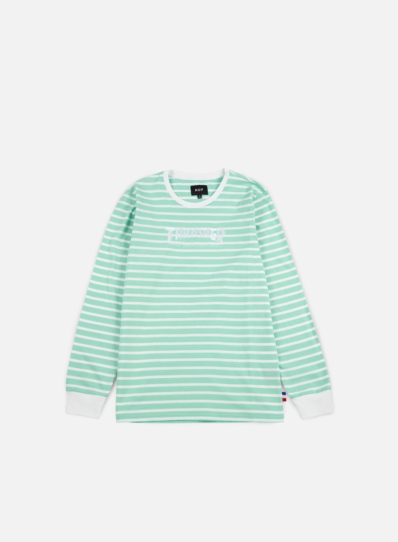 Huf - Thrasher TDS Stripe LS T-shirt, Mint