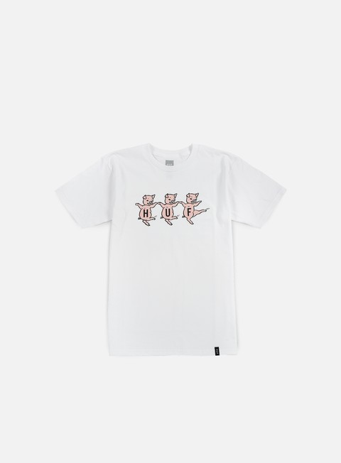 t shirt huf three little pigs t shirt white