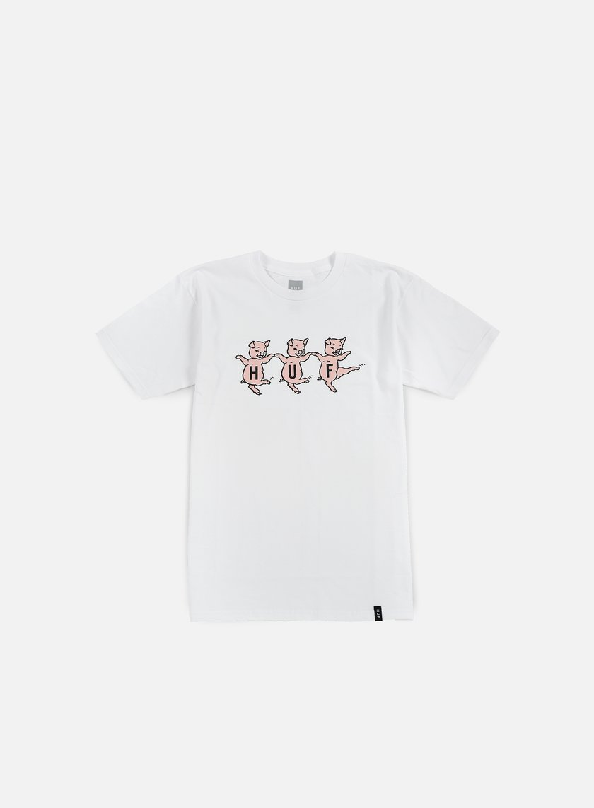 Huf - Three Little Pigs T-shirt, White
