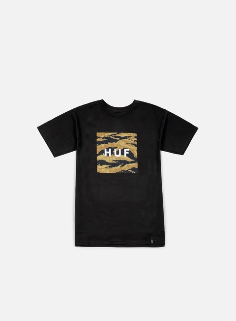 t shirt huf tiger camo box logo t shirt black
