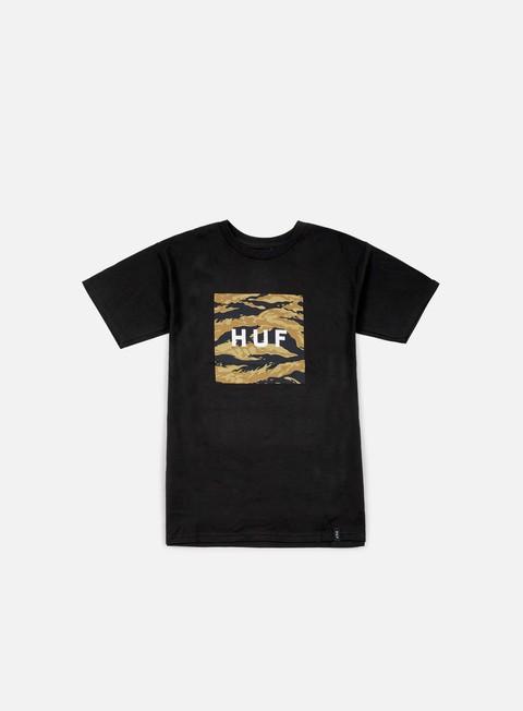 Outlet e Saldi T-shirt a Manica Corta Huf Tiger Camo Box Logo T-shirt