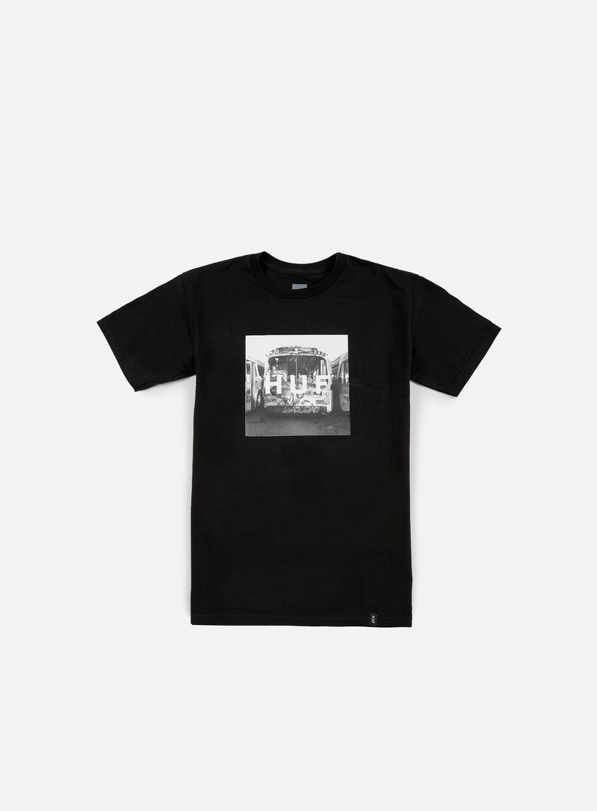Huf - Transit Box Logo T-shirt, Black