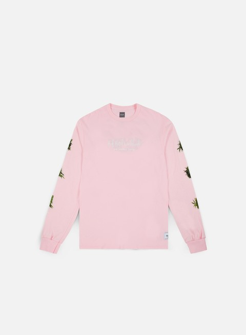 t shirt huf tropical plants ls shirt pink