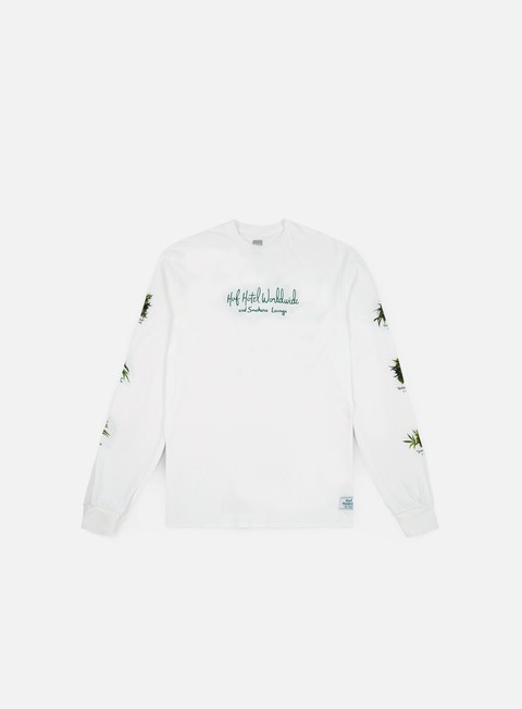 t shirt huf tropical plants ls shirt white