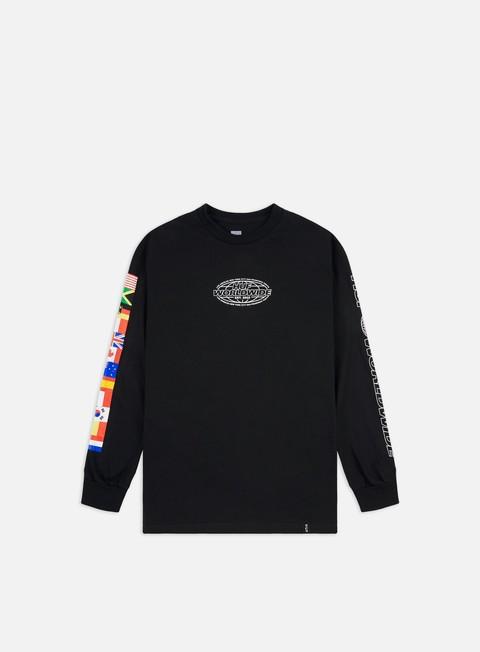 Outlet e Saldi T-shirt a Manica Lunga Huf World Tour LS T-shirt