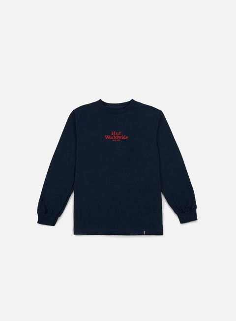 t shirt huf worldwide ls t shirt navy