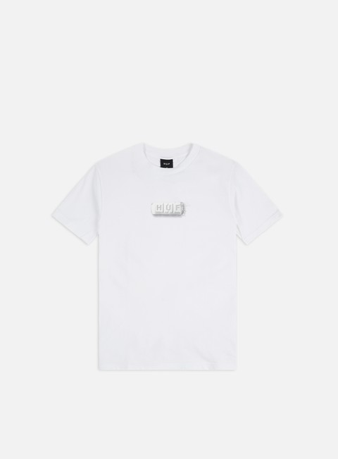 White T-Shirt Crew-Neck White Man White Huf Coming of age Tee