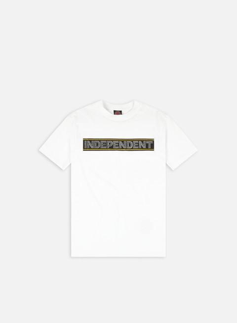 Short sleeve T-shirts Independent Bar Cross Ribbon T-shirt