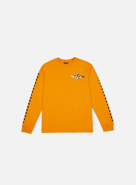 t shirt independent hazard ls t shirt orange