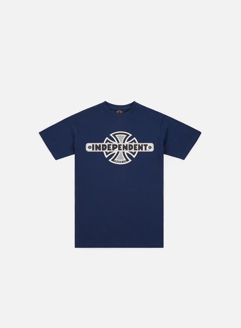 t shirt independent vintage cross t shirt navy
