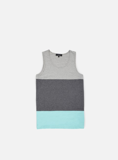 t shirt iuter band tank top light grey
