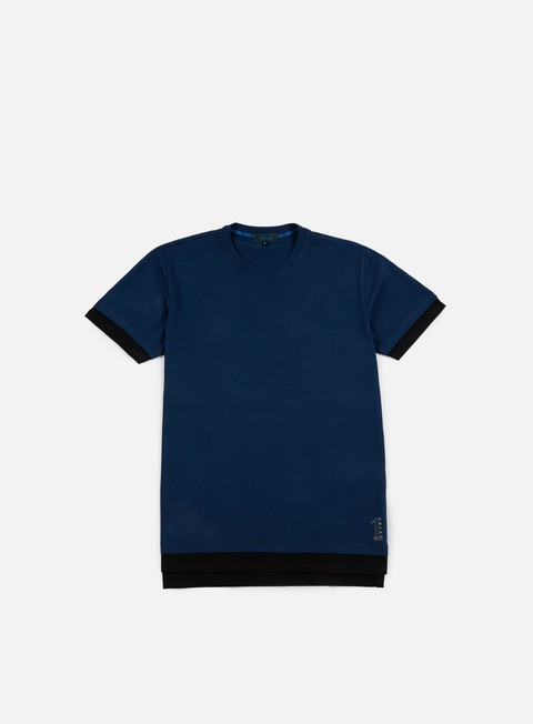 t shirt iuter cattle doble sleeve t shirt deep blue