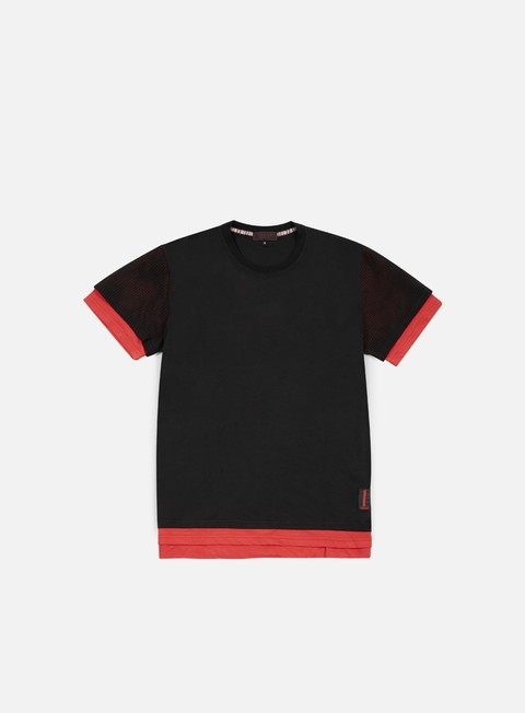 t shirt iuter cattle perforated sleeve oversize t shirt red