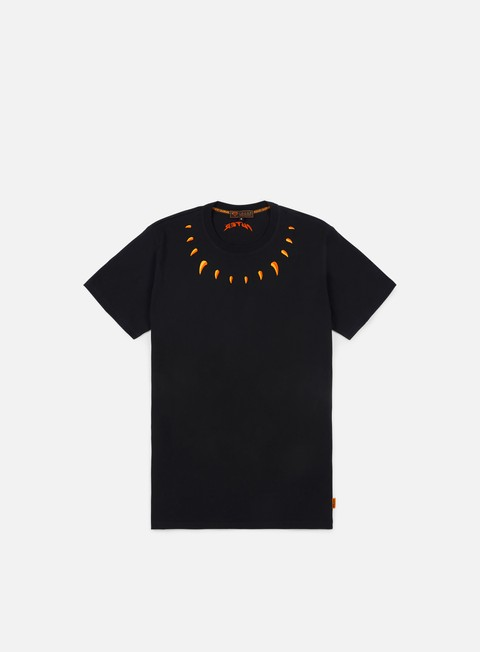 t shirt iuter claws t shirt black orange