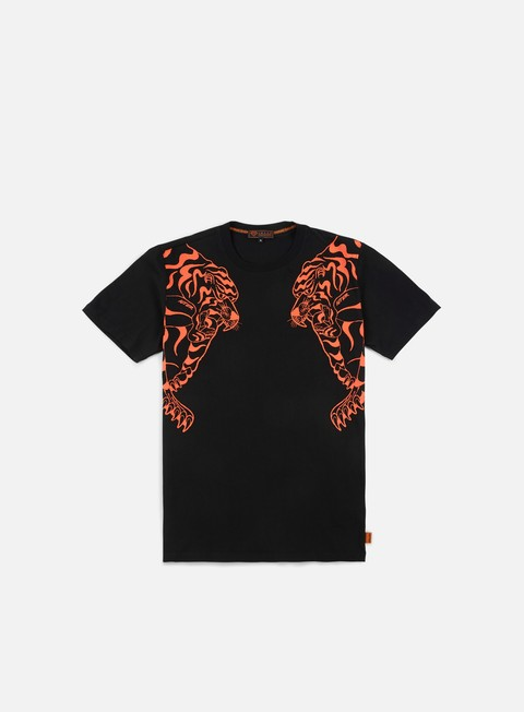 t shirt iuter double nepal t shirt black orange