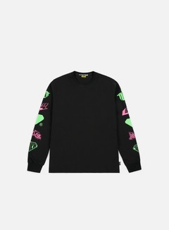 Iuter - Horns LS T-shirt, Black/Fluo
