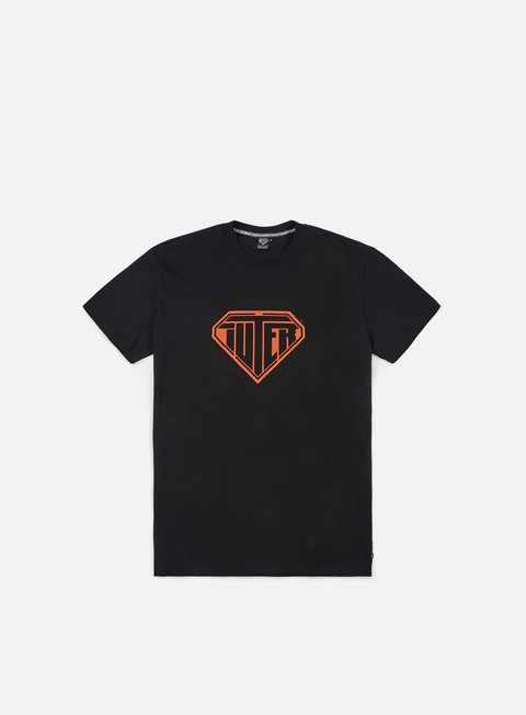 t shirt iuter logo t shirt black orange