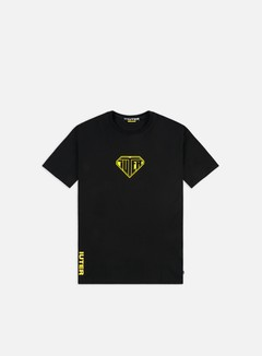 Iuter - Logo T-shirt, Black/Yellow