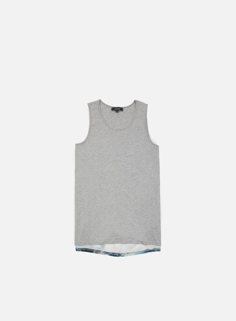 t shirt iuter lower tank top light grey