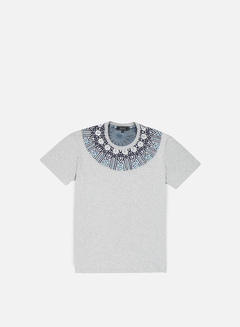 t shirt iuter rosone round jacquard insert t shirt light grey